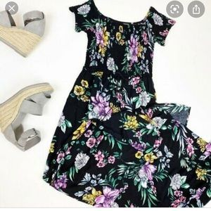 Floral print, maxi dress